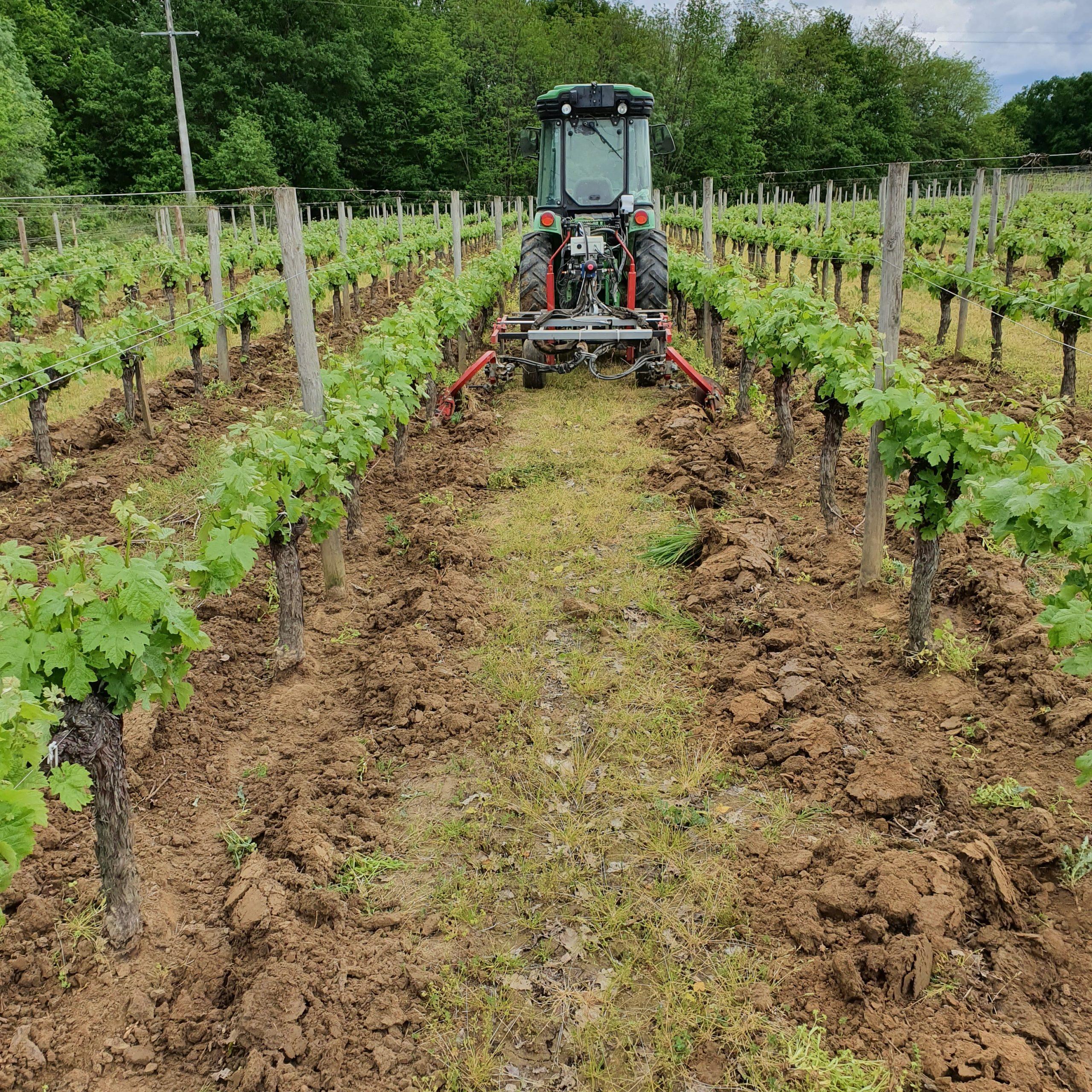 Chateau La Caderie - Tracteur - Vins bios - Bordeaux